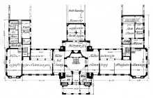 Rzut parteru Muzeum Miejskiego w Szczecinie, za: Zeitschrift für Bauwesen 1915, s. 13 14
