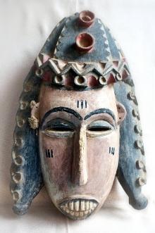 Bamana, maska Yayoroby, Mali, drewno polichromowane, sznurek