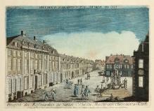 Gottlieb Friedrich Riedel wg J.G. Wolffganga, Rynek Koński (Plac Orła Białego) w Szczecinie, Augsburg, ok. 1780 r., miedzioryt, akwaforta kolorowana (fot. G. Solecki).
