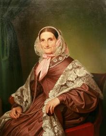 August Ludwig Most, Portret starszej damy z szalem, 1842, olej/płótno (fot. G. Solecki).