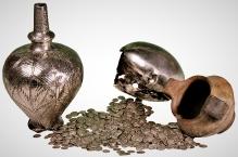 Skarb odkryty w pobliżu miejscowości Boročiče (Wołynsʹka obłastʹ, Ukraina). Zbiory: Państwowego Muzeum Archeologicznego w Warszawie