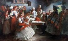 Włodzimierz Tetmajer; Zaręczyny; 1895r; olej/płótno; 92x151cm, fot. G. Solecki/A. Piętak