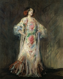 Max Slevogt, Tancerka Antonia Mercé zw. La Argentina, 1926, olej, płótno, 100 x 80, fot. G. Solecki/A. Piętak
