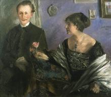 Lovis Corinth, Portret pisarza Georga Hirschfelda i jego żony Elli, 1903, olej, płótno, 100 x 120, fot. G. Solecki/A. Piętak
