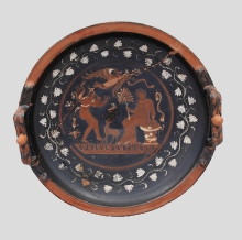 Talerz w stylu Gnathia, Apulia, Italia, 3 ćw. IV w. p.n.e.