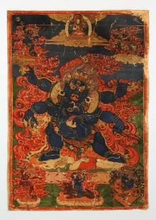 Tanka, Tybet, przełom XIX i XX w., tempera, płótno, 48 x 34 cm, fot. G. Solecki, A. Piętak