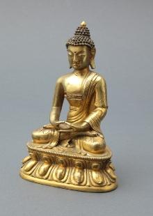 Budda Amitabha, Mongolia, XIX w., odlew z brązu, 17,5 x 11 x 7,5 cm, fot. G. Solecki, A. Piętak
