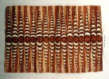 Tapa, Tonga, 1. połowa XX w., tapa polichromowana, 60,3 x 86,5, fot. B. Grzonka