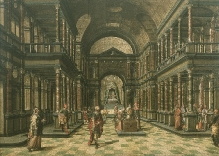 Malarz niderlandzki lub północnoniemiecki, Grosz wdowi, 1 ćw. XVII w., olej, deska, 89 x 136 cm, fot. G. Solecki
