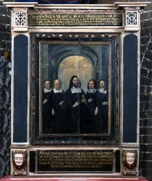 Heinrich Redtel (?), Portret zarządu gminy kościoła św. Gertrudy w Szczecinie, 1666, olej, deska, w ramie 177 x 150 cm, fot. G. Solecki