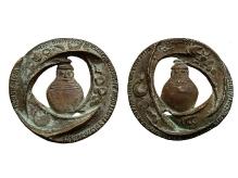 B. Chromy, medal zokazji 15-lecia ochrony zabytków wwoj. koszalińskim, 1973, brąz, Ø 71,8 mm, fot. M. Pawłowski