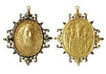 Bogusław XIV, medalion, ok. 1635, złoto, emalia, 62,4 mm x 52,4 mm, fot. M. Pawłowski