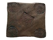 Szwecja, Karol XII, ½ talara płytowego, 1716, miedź, 140,4 mm x  91,7 mm, fot. M. Pawłowski