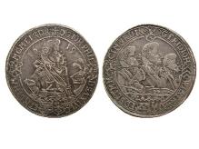 Saksonia-Altenburg, Jan Filip I, talar, 1619, mennica Saalfeld, srebro, Ø 44,2 mm, fot. M. Pawłowski