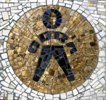 Mozaika z budynku Zakładów Przemysłu Odzieżowego