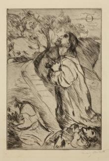 Claude Mellan (1598-1688), Bóg ukazuje się Mojżeszowi wkrzewie gorejącym, 1663, miedzioryt