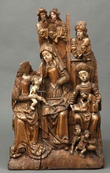 Ołtarz z Krummina, Rodzina Marii, warsztat północnopomorski, ok. 1510, 97 x 56 cm, fot. G. Solecki