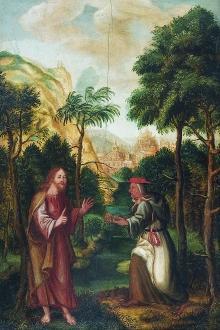 Artysta nieznany, Kuszenie Chrystusa, ok. 1577, olej, deska, 57 x 38 cm, fot. G. Solecki, A. Piętak