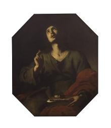 Bernardo Cavallino, Święty Jan Ewangelista, 1635–1640, olej, płótno, 102 x 87 cm, fot. G. Solecki