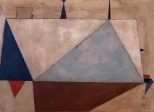 Jerzy Nowosielski (1923-2011), Stocznia, 1948, olej, płótno, 99 x 137 cm, fot. Grzegorz Solecki