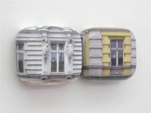 Heinz Spellmann, Gründerzeit 2, Szczecin, 2005, wydruk fotograficzny, silikon, farba akrylowa, pianka, 20 x 24 x 8 cm (każdy z 12 elementów)