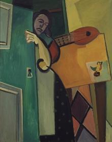 Tadeusz Kantor (1915-1990), Kobieta w drzwiach, 1947, olej, płótno, 132 x 105 cm, fot. Grzegorz Solecki
