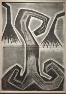 Zbigniew Taszycki (ur. 1955), bez tytułu, 1990, papier gruntowany, węgiel, grafit, pastel suchy, pastel tłusty,123 x 178 cm Zakup dofinansowany ze środków Ministra Kultury i Dziedzictwa Narodowego w 2016 roku