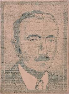 Artysta nieznany, Bolesław Bierut (Portret utworzony ze słów Konstytucji PRL z 1952), tusz, papier, 32,5 x 24,5 cm. Zakup dofinansowany ze środków Województwa Zachodniopomorskiego