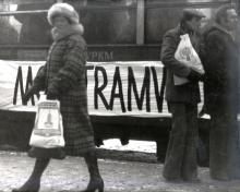 Antoni Karwowski (ur. 1948), Mój tramwaj, 1980, fot. Elżbieta Karwowska Zakup dofinansowany ze środków Ministra Kultury i Dziedzictwa Narodowego w 2016 roku