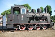 Parowóz wąskotorowy Tx7-3501, rok produkcji 1914, Vulcan-Werke Hamburg und Stettin AG w Szczecinie, pracował nieprzerwanie do 1974 roku na sieci Stargardzkiej (Szadzkiej) Kolei Dojazdowej