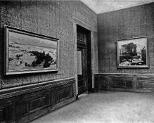 Muzeum Miejskie w Szczecinie, galeria malarstwa na drugim piętrze gmachu, widok z lat 20. XX w., fot. arch.