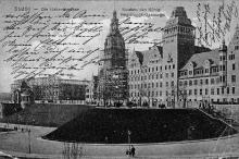 Muzeum Miejskie w trakcie budowy, pocztówka, 1910