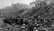 Wały Chrobrego w Szczecinie po zniszczeniach wojennych, 1945, fot. arch
