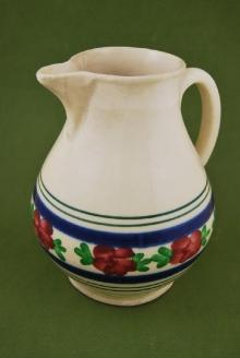 Dzban na mleko, pocz. XX w. Niemcy, kamionka, (konserwacja 1998 i 2012)