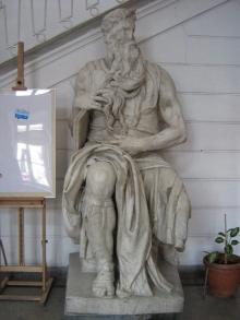 Bernhard Bleeker, Rzeźba pomnikowa Mojżesza, 1911, marmur, (konserwacja 2014 – 2015)