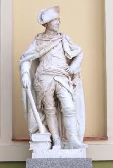 J. G. Schadow, Rzeźba pomnikowa Fryderyka Wielkiego, 1793, marmur, realizacja we współpracy z rzeźbiarzem R. Zarzyckim, (konserwacja 2007 – 2011)