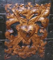 Skrzynia skarbiec, XVI w.(?), Niemcy, żelazo ,żelazo złocone, drewno, (konserwacja 2015)