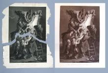 """J. Thouvenin """"Zdjęcie z krzyża"""" wg P. Rubensa, XVIII/XIX w., miedzioryt, akwaforta"""