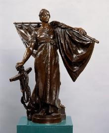 L. Manzel, Model postaci kobiecej do fontanny Sediny, 1896-98, brąz (fot. G. Solecki).