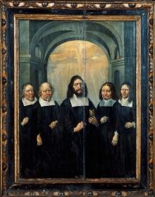 Heinrich Redtel (?), Portret zbiorowy zarządu gminy kościoła św. Gertrudy w Szczecinie, 1666 r., olej/deska (fot. G. Solecki).