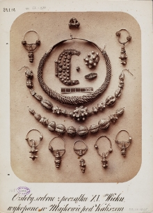 Karol Beyer, Ozdoby srebrne z pocz. XI. wieku, wykopane w Majkowie pod Kaliszem, 1865, Muzeum Narodowe w Warszawie