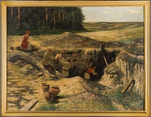 Marian Wawrzeniecki, Rozkopany kurhan, 1891/1892, olej, płótno, 95,5 x 124, Muzeum Narodowe w Poznaniu