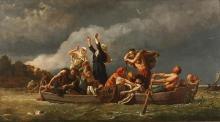 Wojciech Gerson, Bez ziemi. Pomorzanie wyparci przez Niemców na wyspy Bałtyku, 1888, Muzeum Narodowe w Szczecinie