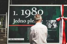 """Wystawa plenerowa """"1980. Jedno plemię"""" fot. Michał Wojtarowicz"""