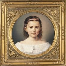 August Ludwig Most, Portret Auguste Schiffmann w wieku dziecięcym, 1835, olej, płótno, śr. 36, fot. G. Solecki/A. Piętak