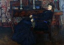 Józef Mehoffer; Portret żony; 1908r; olej/tektura; 50x68cm, fot. G. Solecki/A. Piętak