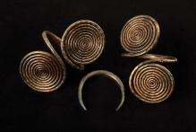 Ozdoby z brązu, ze skarbu odkrytego w Mielenku Gryfińskim (powiat gryfiński), środkowa epoka brązu, fot. G. Solecki/A. Piętak
