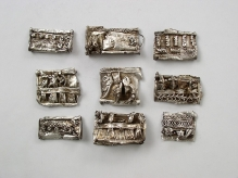 Kaptorgi srebrne ze skarbu ozdób i monet znalezionego w okolicy miejscowości Piaski/Drabino (pow. kamieński), 2 połowa X w., waga całego skarbu ok. 550 g, fot. M. Pawłowski