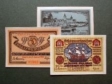 Niemcy, Pomorze, bony zastępcze Szczecina, 1922, papier, 96 mm x 67 mm, fot. M. Pawłowski
