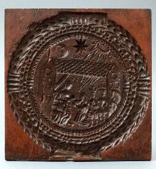 FORMA DO PIERNIKÓW, pow. stargardzki, 1714, drewno,                       27,8 x 28,8 x 1,9 cm, fot. Grzegorz Solecki, Arkadiusz Piętak